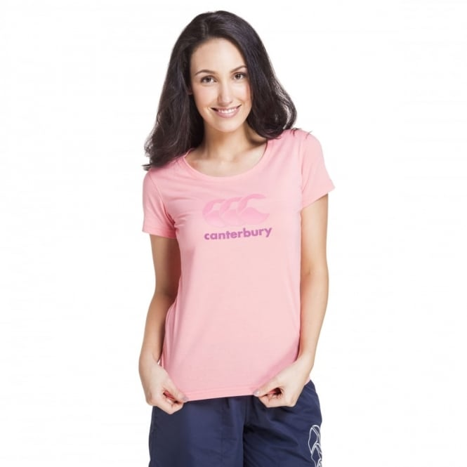 BRAND CARRIER TEE SALMON ROSE