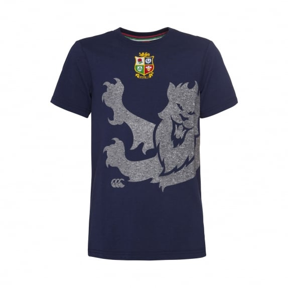 BRITISH & IRISH LIONS MARL PRINT LION TEE - BOYS