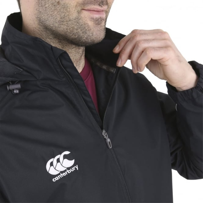 Canterbury Rugby Rain Jacket Men/'s Water Resistant Full Zip New Green