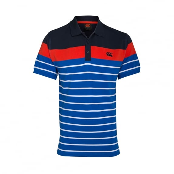 CONTRAST ENGINEER STRIPE POLO - BIG & TALL