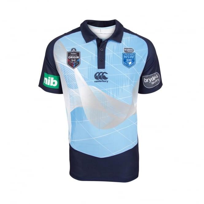 152ff581a00 NSW BLUES EVO MEDIA POLO 2018 - Mens from Canterbury Australia