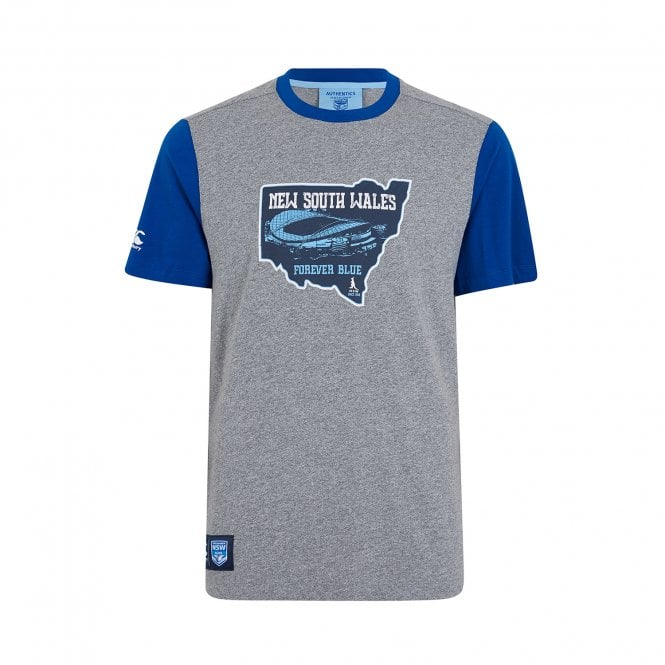 nsw blues forever blue state map tee 2019 mens from canterbury