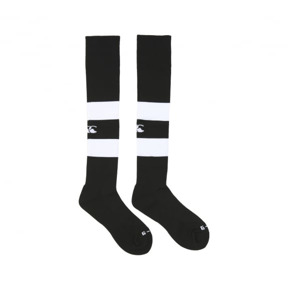 HOOPED PLAYING SOCK BLACK