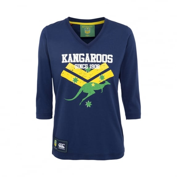 KANGAROOS SUPPORTERS 3/4 TEE 2017 - WOMENS