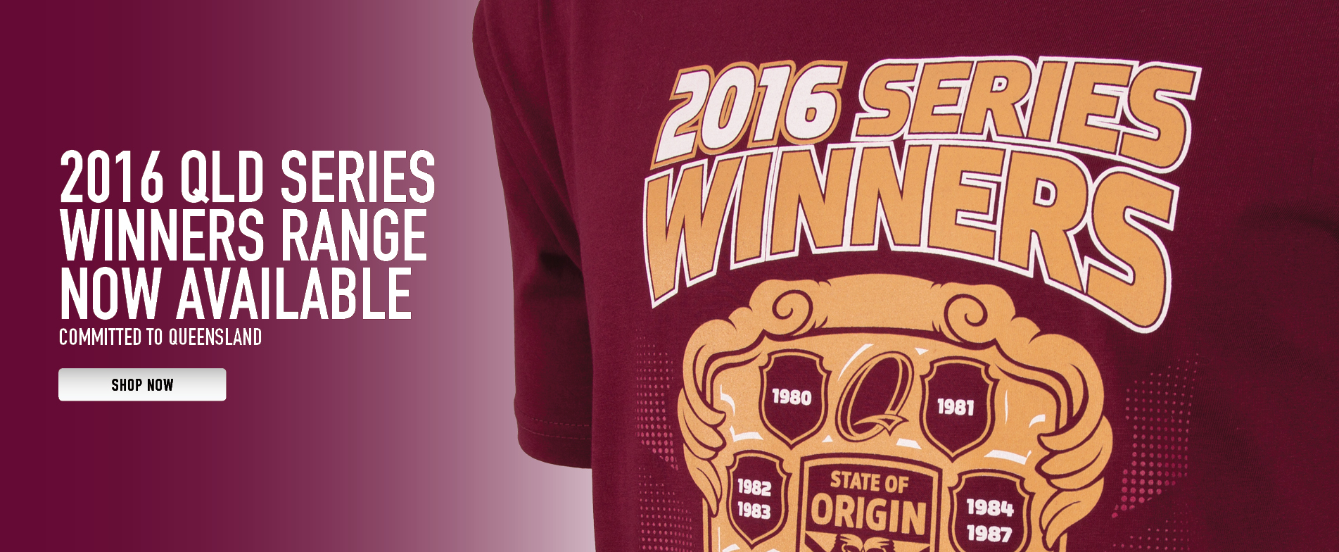 Queensland State of Origin Winning Series Range