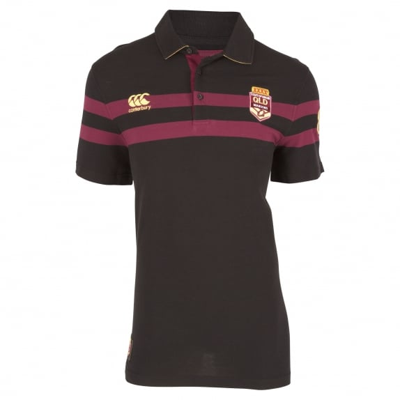 QLD SOO Engineered Chest Stripe Polo - MENS
