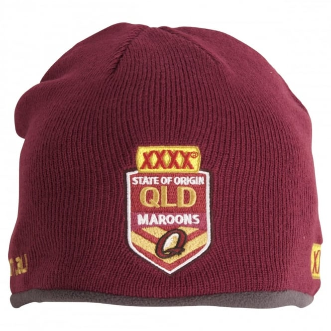 QLD SOO Fleece Lined Beanie - Mens from Canterbury Australia