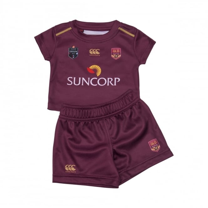 QLD SOO ON FIELD BABY SET MAROON