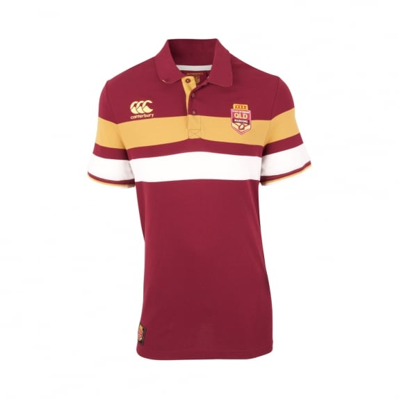 QLD SOO STRIPE DOWN POLO 2017
