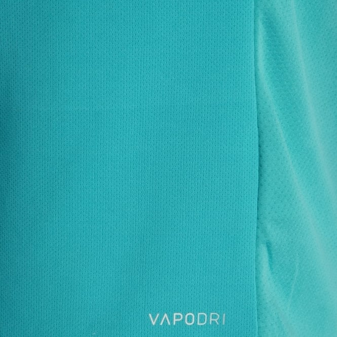 VAPODRI POLY LARGE LOGO TEE ATOMIC BLUE