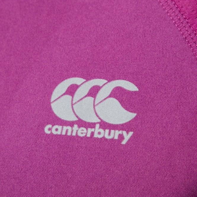 Canterbury Womens Vapodri Training Tee CCC Logo Fuchsia Red Marl E647220-T72